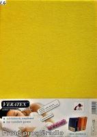 VERATEX Veratex Froté prostěradlo jednolůžko 90x200/16cm žlutá