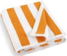 VERATEX Plážová froté osuška 100x150cm oranžovo bílý proužek 500g