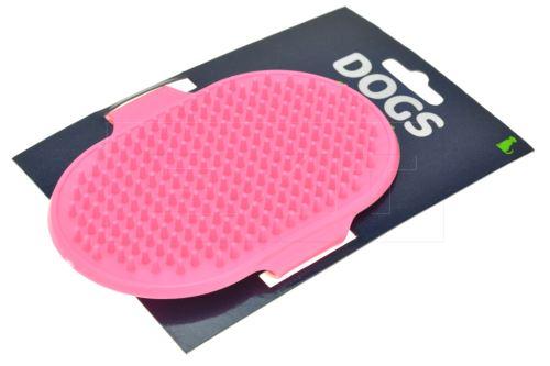 Silikonový kartáč na vyčesávání srsti DOGS (13cm) - Růžový - 8719202045987