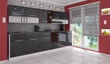 FALCO Kuchyňská linka Devil 260 černý lesk - 1506015105