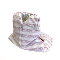 Aesthetic Spací pytlík 65 cm - pruh růžovo - šedo -bílý