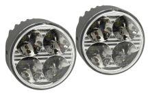 Světla denního svícení 4 HIGH POWER LED 12V/24V (kulatá 70 mm) 33551