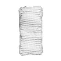 Aesthetic Náhradní povlak na hnízdo pro miminko-podložku - bavlněné plátno - hvězdička šedá/bílá