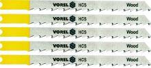 Vorel List do přímočaré pily 100 mm na dřevo a plast TPI6 5 ks TO-27831