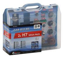Compass Žárovky 12V servisní box MEGA H7+H7+pojistky 08518