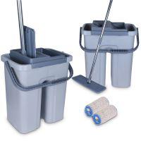 Cenocco CC-9070: Plochý mop s kbelíkem šedý