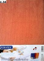 VERATEX Froté prostěradlo  90x220cm (č.34-sv.rezavá)