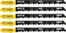 Yato List pilový do přímočaré pily na dřevo typ T 6TPI sada 5 ks YT-3405