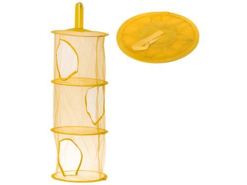 Organizér závěsné police na hračky žluté