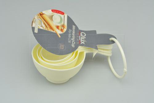 Set 4ks plastových odměrek QLÚX 60-240ml (16cm)