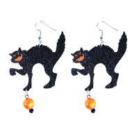 Náušnice kočky čarodějnice/Halloween (8590687122802)