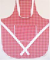 VERATEX Zástěra kuchyňská tkaný kanafas červené srdíčko 70x80cm