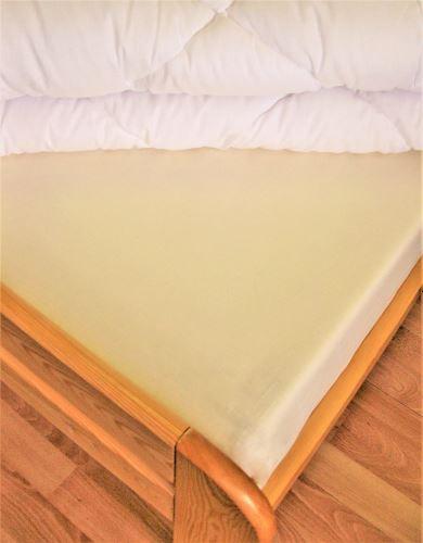 VERATEX Bavlněné prostěradlo 2Lůžko s gumou 180x200/do výšky matrace 15 cm (smetanová)