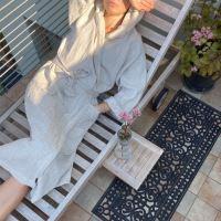 Aesthetic Lněný oversized plášť/ župan s kapucí 100% len UNISEX Barva: přírodní