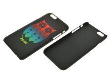 Plastové pouzdro na iphone 6, 4.7 - Sova, černé - 8657988017548