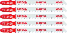 Yato List do přímočaré pily 100 mm na dřevo TPI6 5 ks Bi-Metal YT-3400