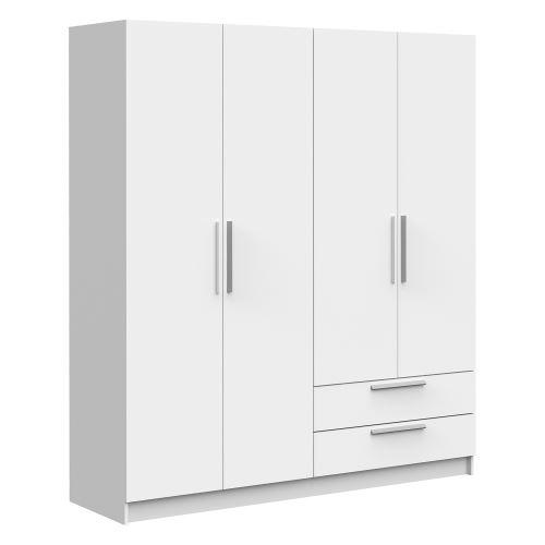 Skříň 4dveřová GLORY bílá IDEA nábytek
