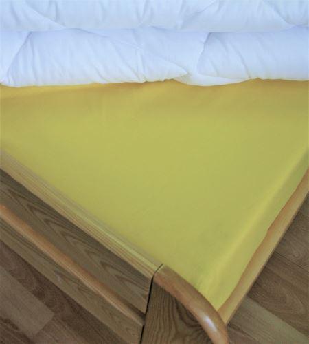 VERATEX Bavlněné prostěradlo 2Lůžko s gumou 180x200/do výšky matrace 15 cm (sv.žlutá)