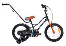 Kolo pro chlapce 16palcové tygří kolo s posunovačem černo - oranžové - tyrkysové
