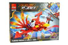 Stavebnice 0636, 214 dílků Future Police - Flaming Phoenix - 0636