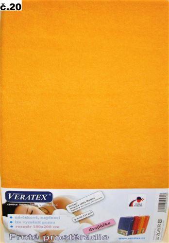 VERATEX Froté prostěradlo  90x210 cm (č.20-meruňková)
