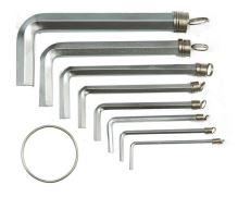 Vorel Sada klíčů imbus 10 ks 1,5 - 10 mm CrV TO-56391