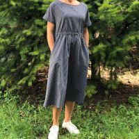 Aesthetic Dámské šaty ARTLINE - černo/bílá kostka