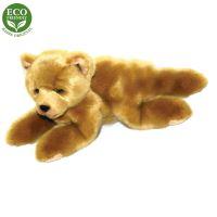 Plyšový medvěd světle hnědý ležící15 cm ECO-FRIENDLY (8590687054066)
