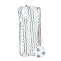 Aesthetic Hnízdo pro miminko péřové-podložka - bavlněné plátno - hvězdička modrá na bílé Barva: Hvězdička světle modrá na bílé