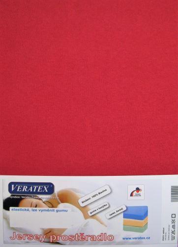VERATEX Jersey prostěradlo jednolůžko 90x200/25 cm (č.19-vínová)
