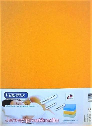 VERATEX Jersey prostěradlo 180x200/15 cm (č. 7-sytě žlutá)