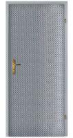 Koženkové čalounění dveří vzor Steampunk-loft kapky stříbrná