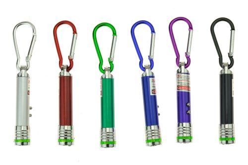 Svítilna s laserem a karabinou - Mix barev, 1ks - 5907773991359