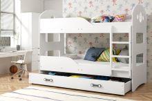 FALCO Patrová postel Domino 90x200 bílá - 0317021201
