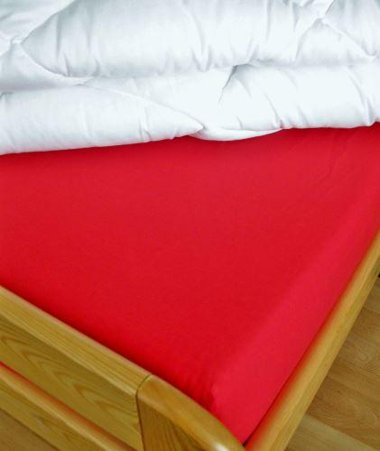 VERATEX Bavlněné prostěradlo s gumou  90x200 cm do výšky matrace 15 cm (červené)