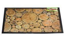 Bytová rohožka PERFECT HOME 40x60cm - Dřevěná mozaika, klády - 5906651042695