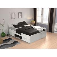 Multifunkční postel 140x200 MICHIGAN perleťově bílá IDEA nábytek