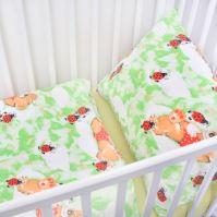 Stanex Dětské ložní povlečení krepové berušky zelené (LS305) Dětské ložní povlečení 135x90 + 40x60 - (LS305)
