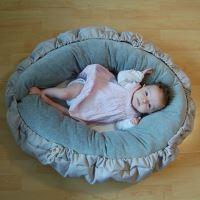 Aesthetic Víceúčelový válec pro miminko a maminku bavlněné plátno 150 cm - minimum šedá