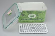 Plastový box s mřížkou a silikonovým těsněním PLAST ART 4,5l (14x26x18,5cm) - 8696219363702