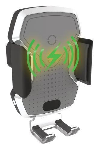 Compass Držák telefonu LUKE-X bezdrátové nabíjení 10W silver 06301