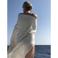 Aesthetic Lněná plážová deka, osuška - 100% len Rozměr: 95x150 cm, Barva: přírodní