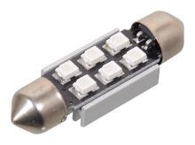 Compass Žárovka 6 SMD LED 12V suf. SV8.5 38mm s rezistorem CAN-BUS modrá 33816