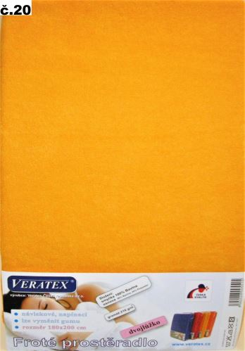 VERATEX Froté prostěradlo 120x220 cm (č.20-meruňková)