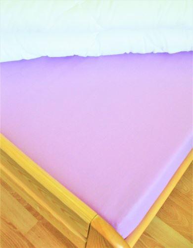 VERATEX Bavlněné prostěradlo dvoulůžko 200x240 cm (fialkové)