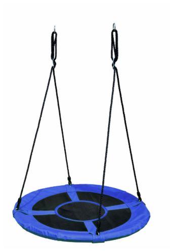Hnízdo zahradní houpačka modrá 100cm Houpací kruh