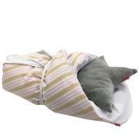 Aesthetic Rychlo-zavinovačka péřová -  100% bavlněné plátno - Proužek holčička 75x75cm