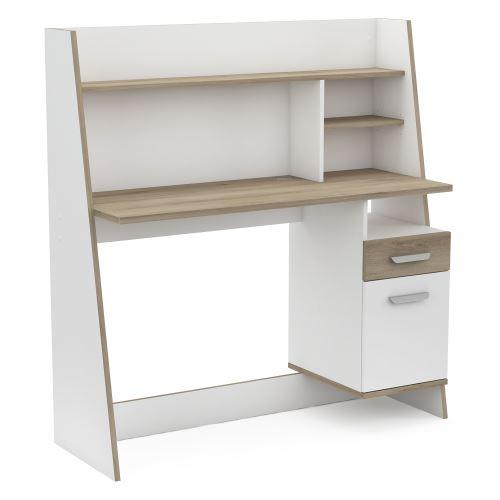 Psací stůl BUALY dub/bílá IDEA nábytek