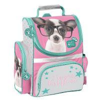 Školní taška domácí studio čivava s brýlemi ptd-525