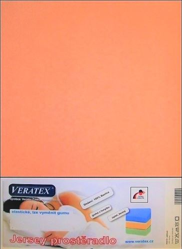 VERATEX Jersey prostěradlo 100x200 cm (č.11-lososová)